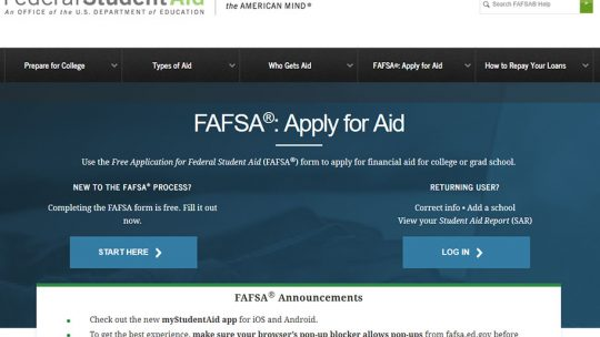 Complete FAFSA Now